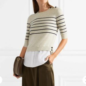Veronica Beard Knot Mariner Sweater Silk Cashmere